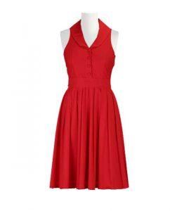rdeča ženska obleka za svečane dogodke